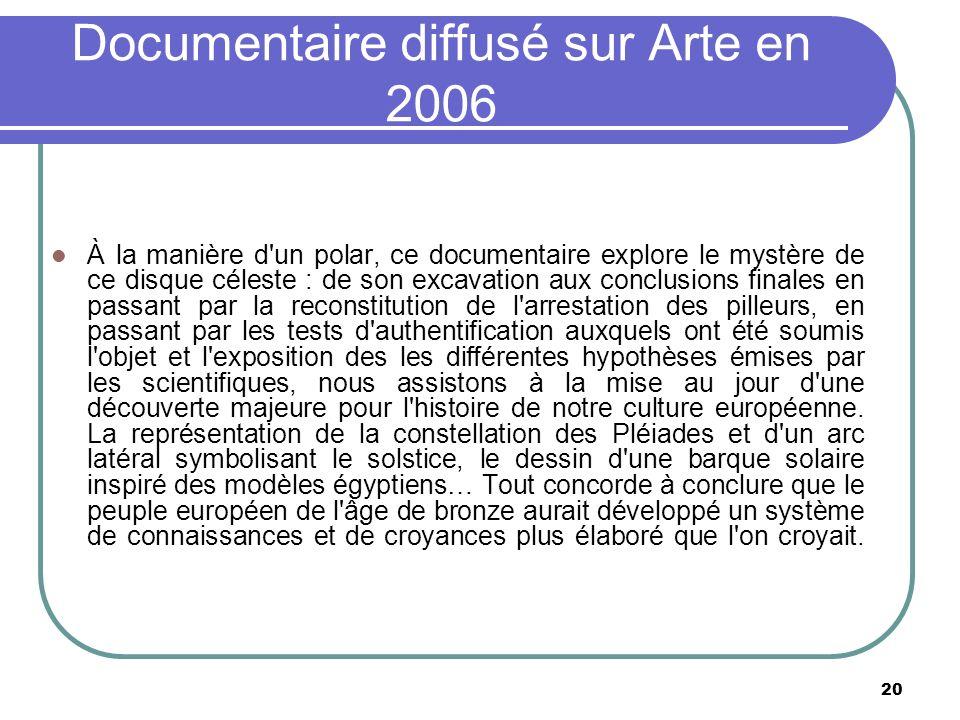Documentaire diffusé sur Arte en 2006