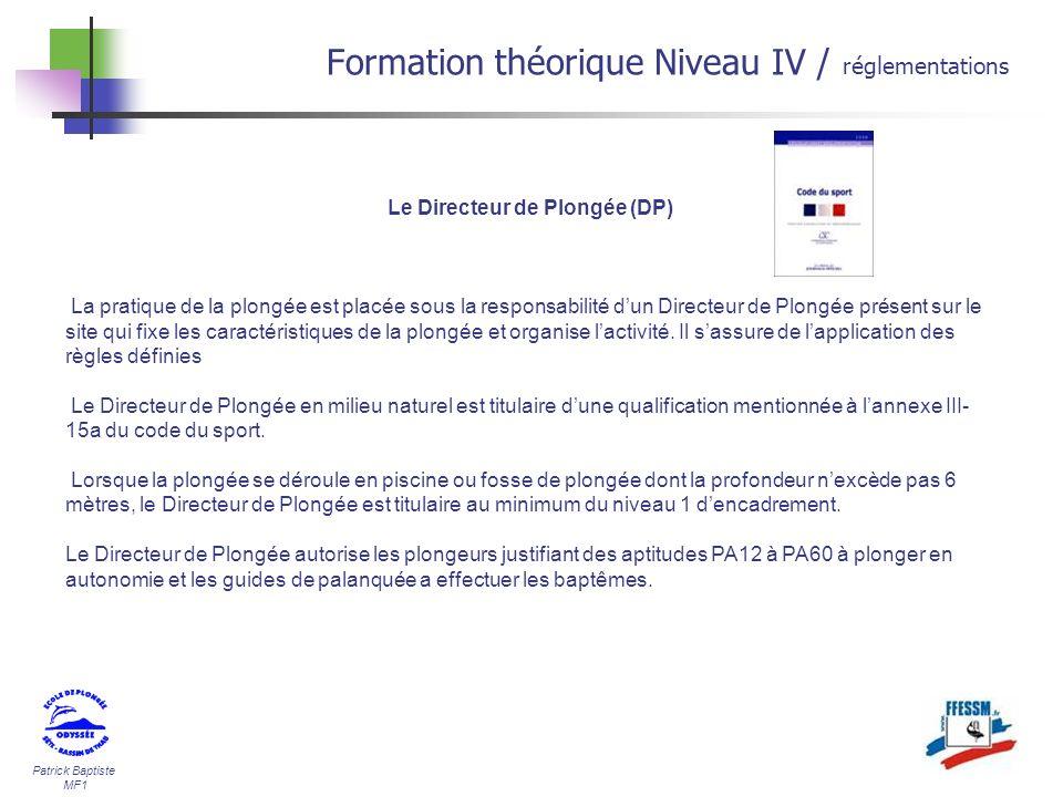 Le Directeur de Plongée (DP)
