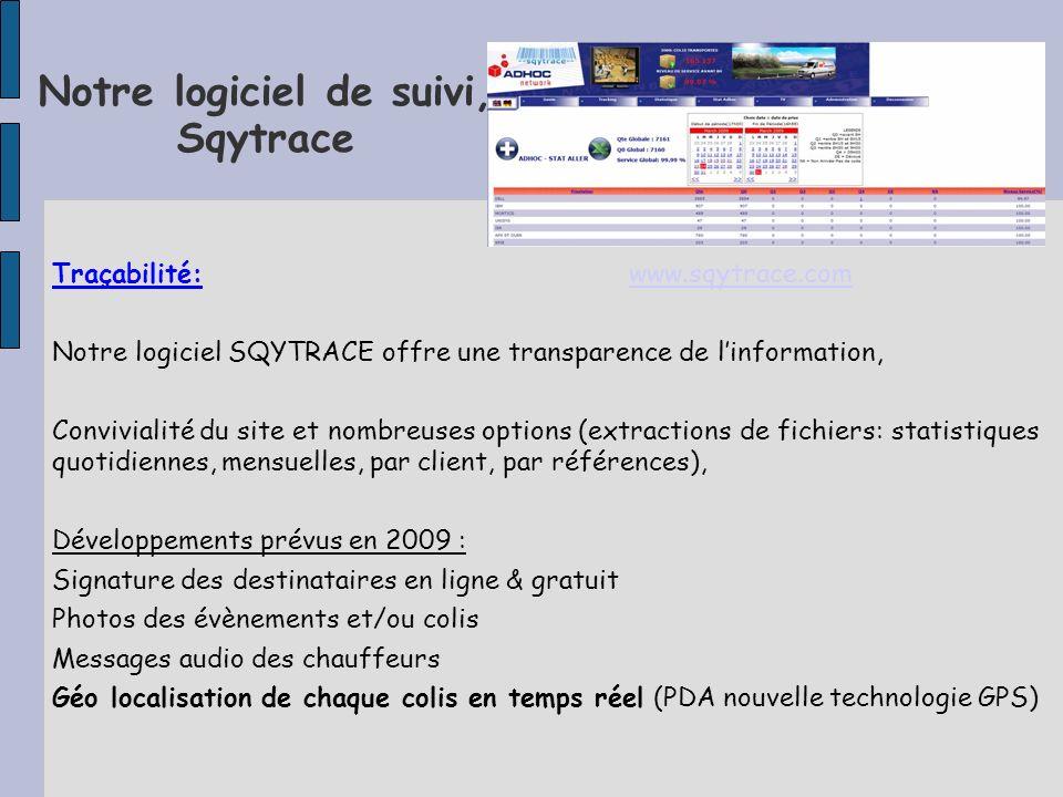 Notre logiciel de suivi, Sqytrace