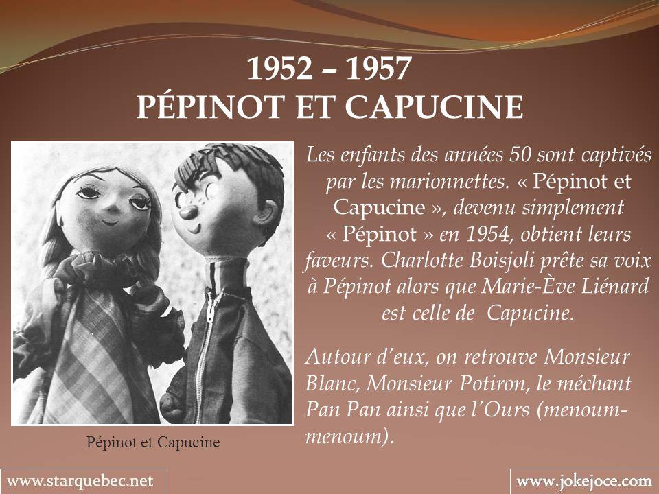 1952 – 1957 PÉPINOT ET CAPUCINE.