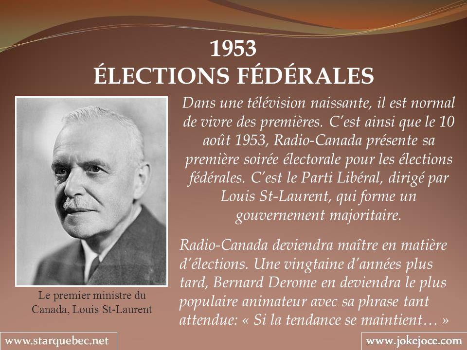 Le premier ministre du Canada, Louis St-Laurent