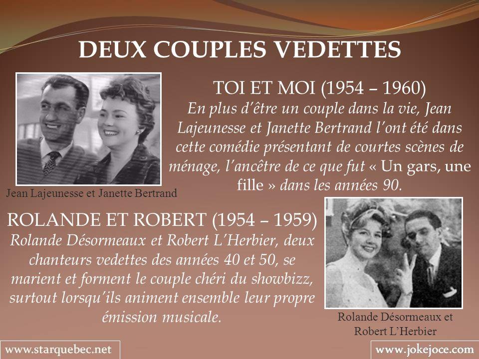 DEUX COUPLES VEDETTES TOI ET MOI (1954 – 1960)
