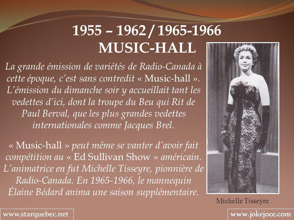 1955 – 1962 / 1965-1966 MUSIC-HALL.