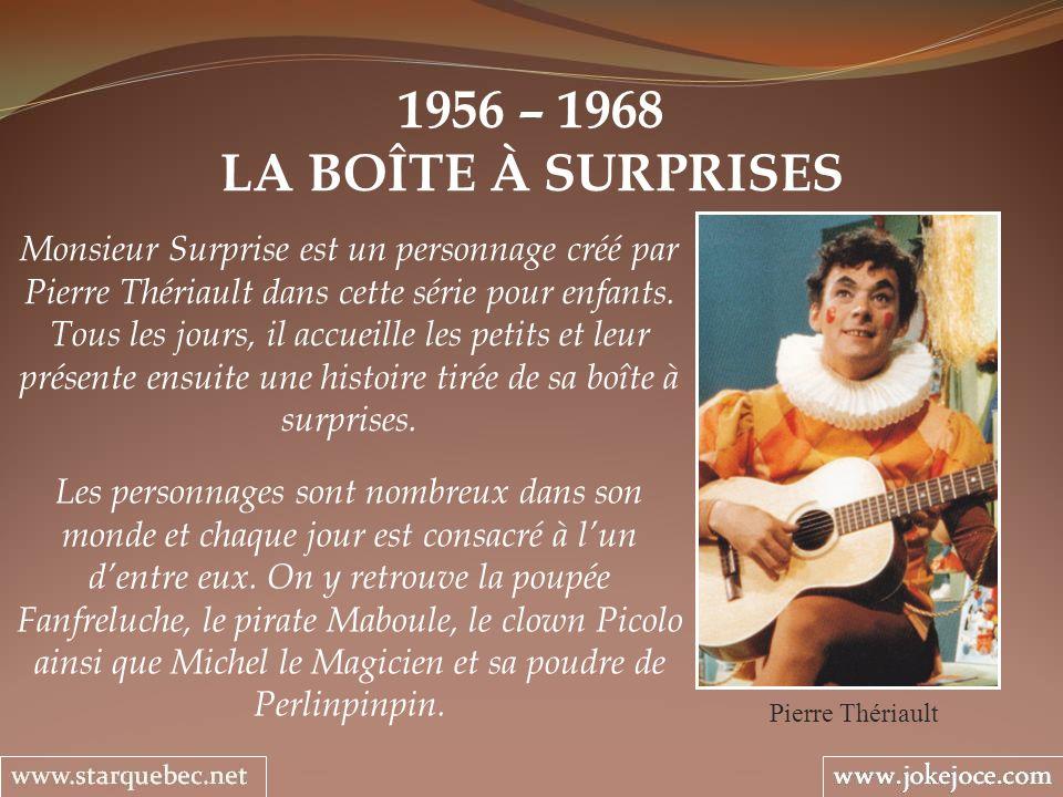 1956 – 1968 LA BOÎTE À SURPRISES.