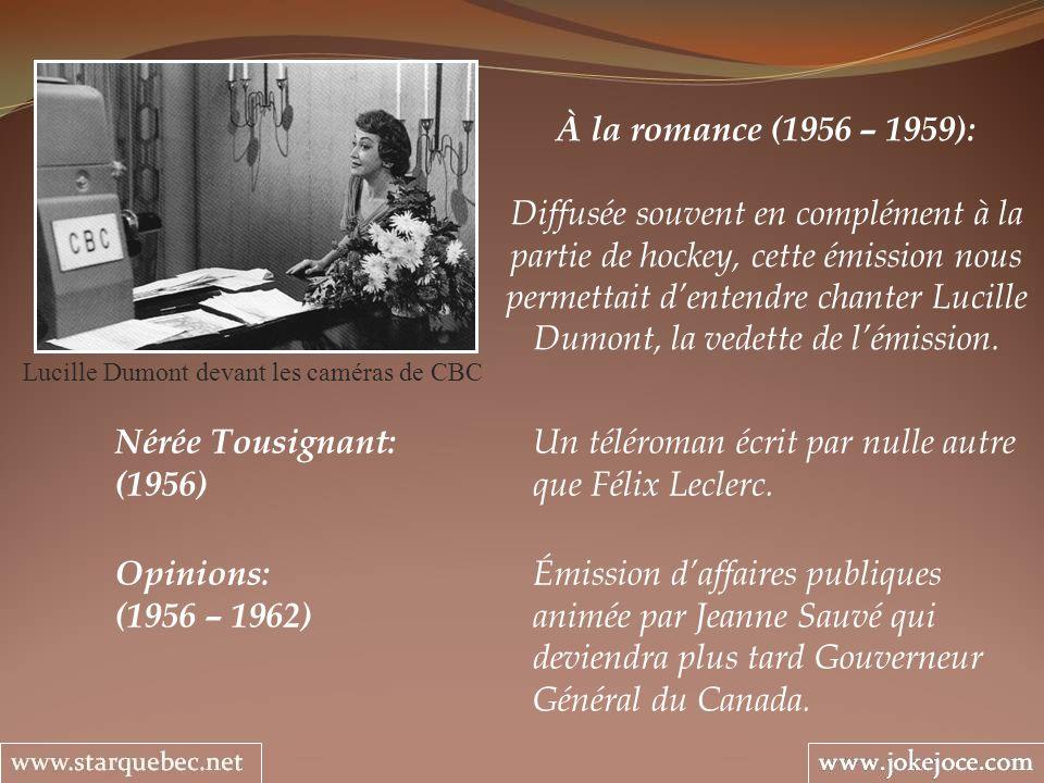 Lucille Dumont devant les caméras de CBC