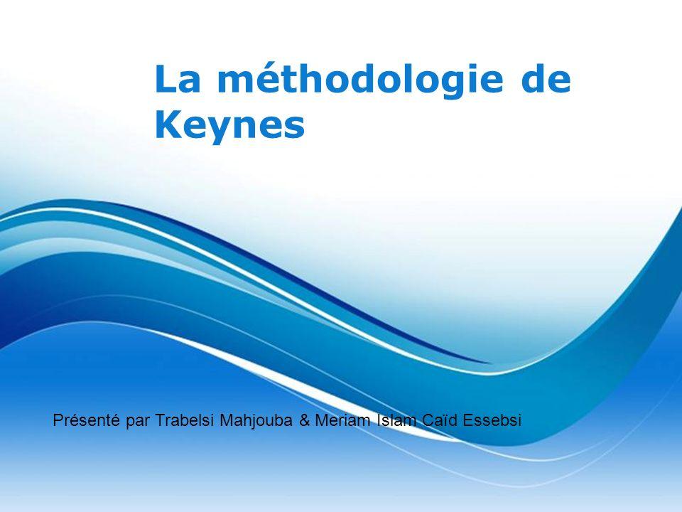 La méthodologie de Keynes