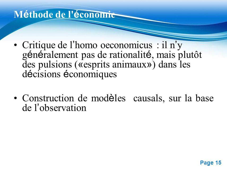 Méthode de l économie