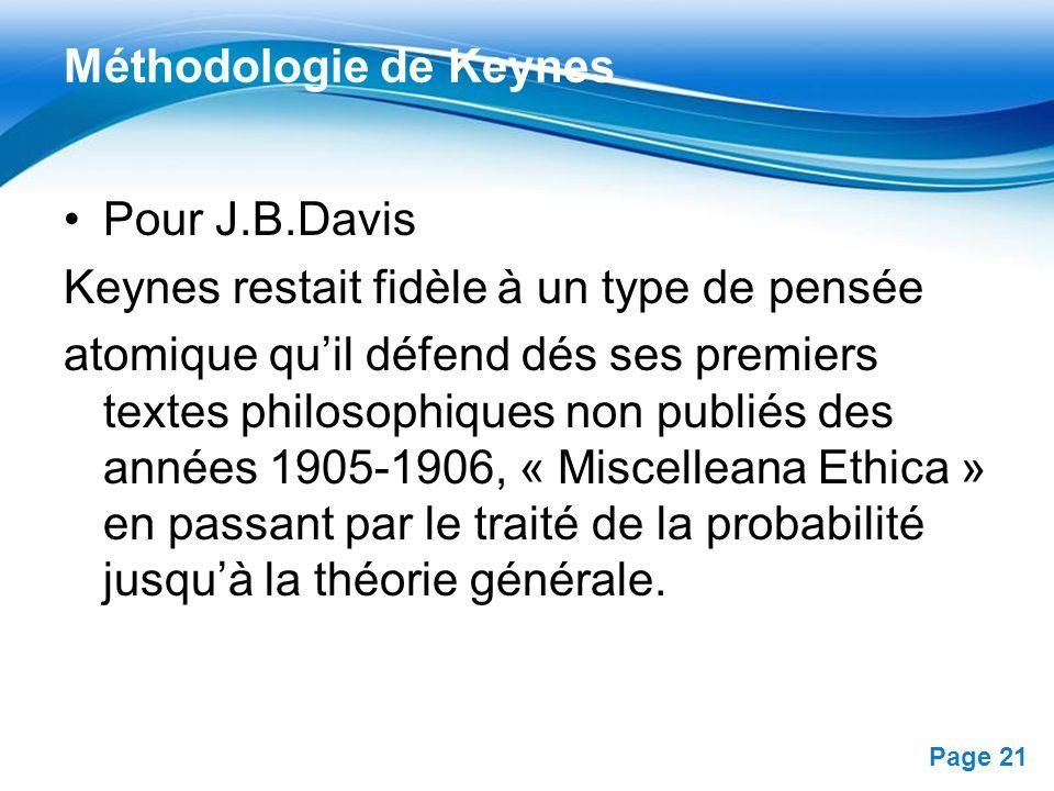 Méthodologie de Keynes