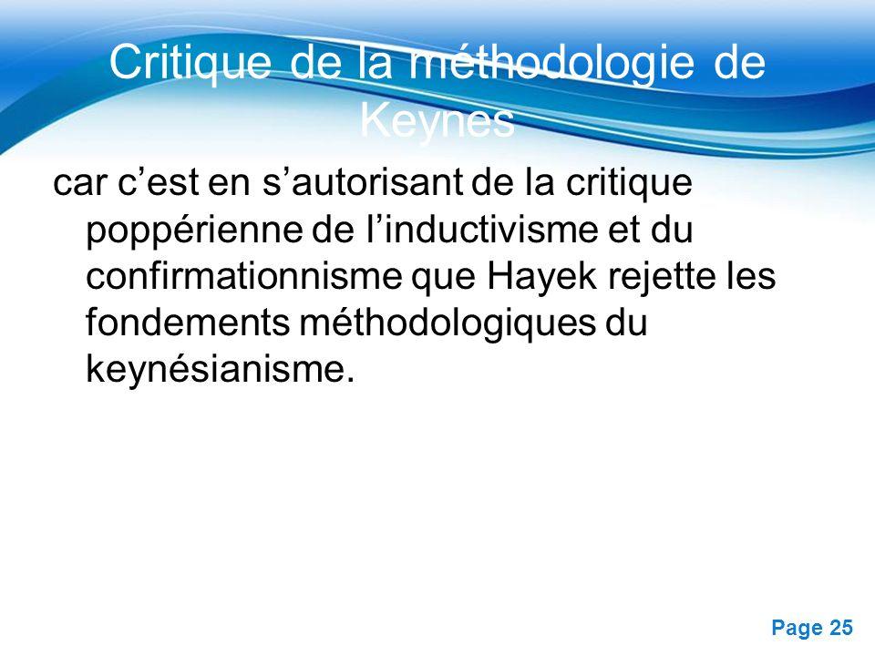 Critique de la méthodologie de Keynes
