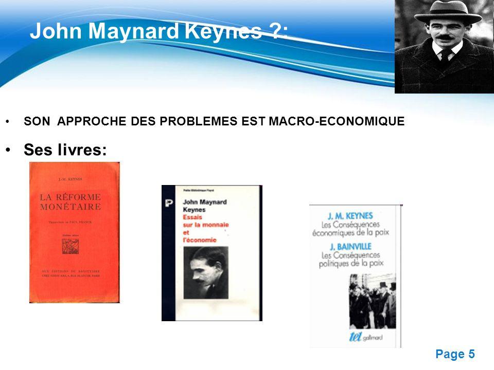 John Maynard Keynes : Ses livres: