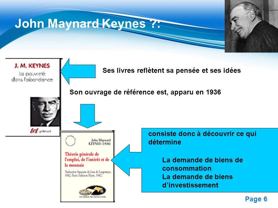 John Maynard Keynes : Ses livres reflètent sa pensée et ses idées