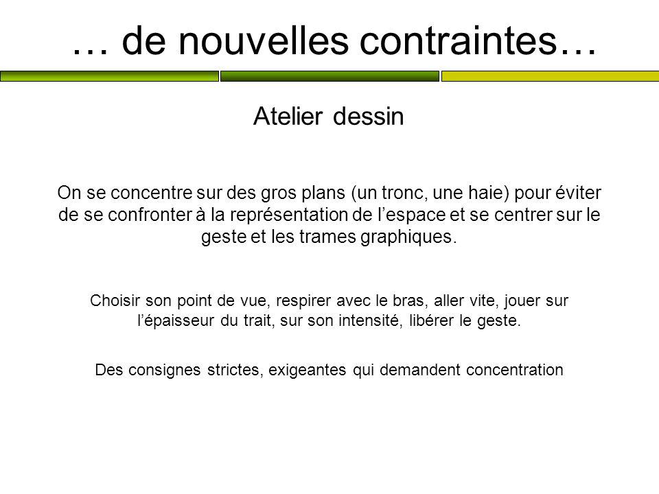 … de nouvelles contraintes…