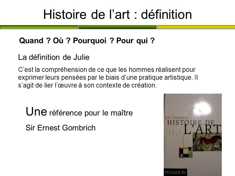 Histoire de l'art : définition