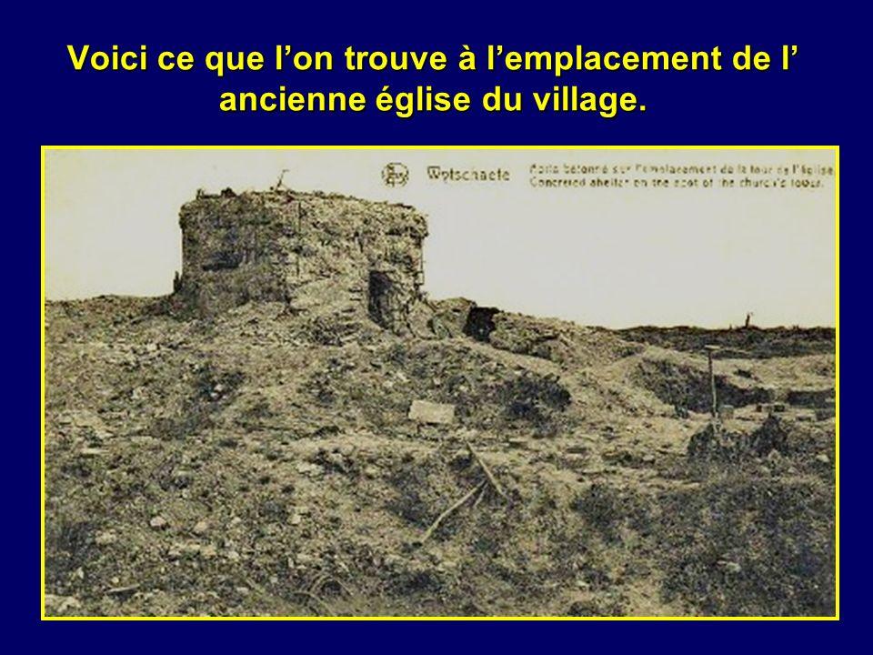 Voici ce que l'on trouve à l'emplacement de l' ancienne église du village.