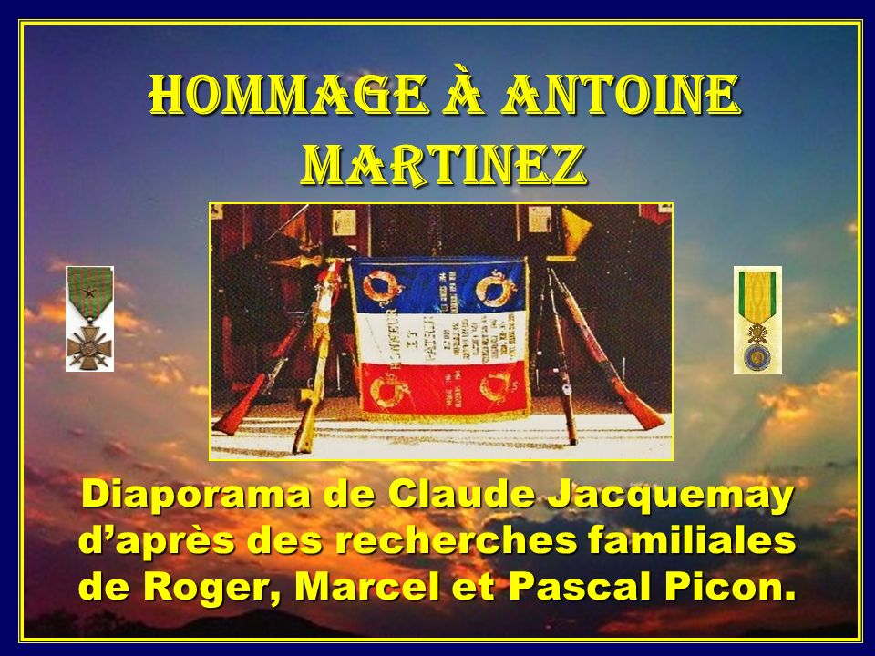 Hommage à Antoine Martinez