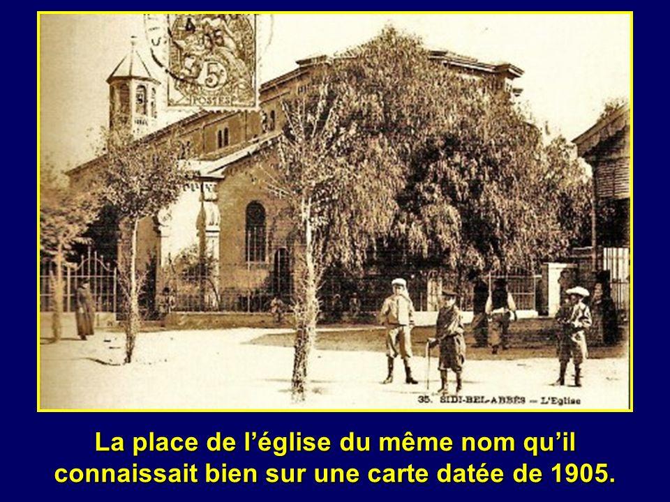 La place de l'église du même nom qu'il connaissait bien sur une carte datée de 1905.