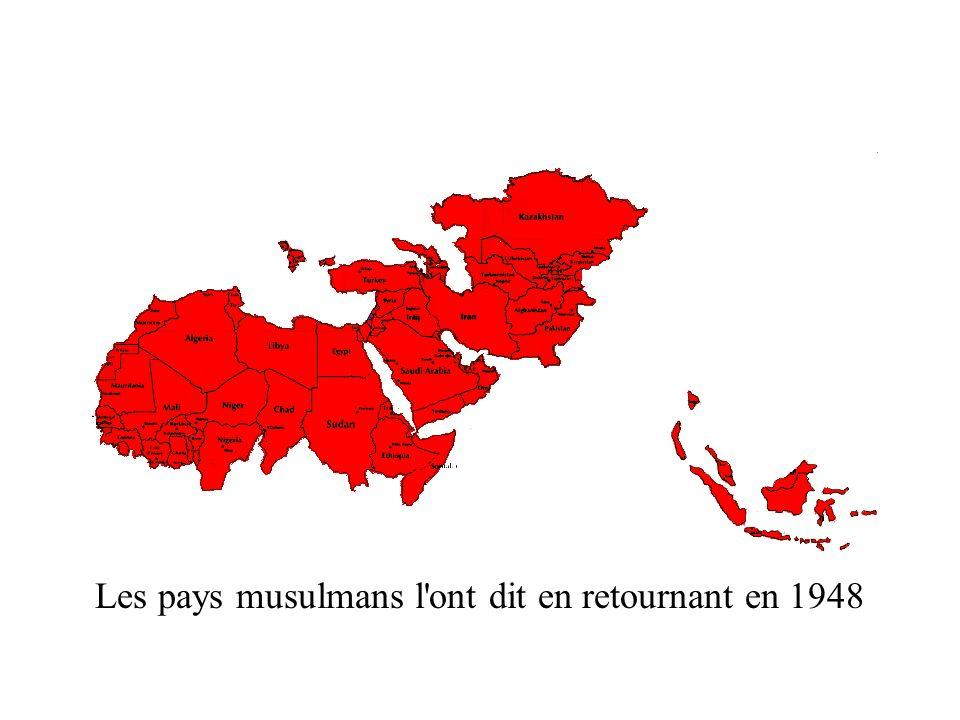 Les pays musulmans l ont dit en retournant en 1948