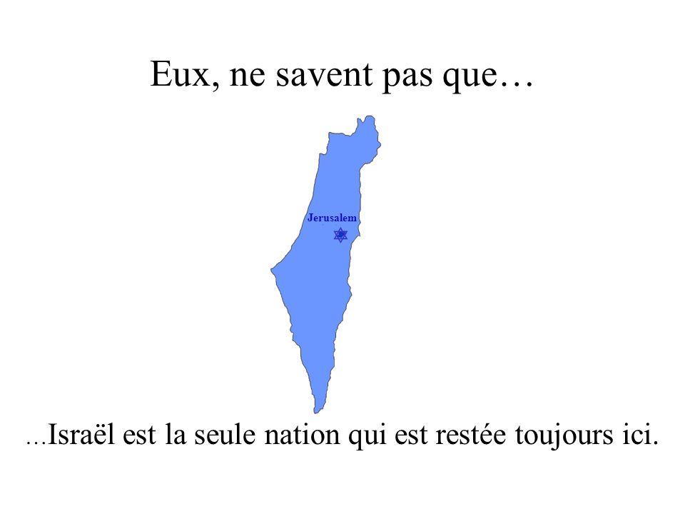…Israël est la seule nation qui est restée toujours ici.