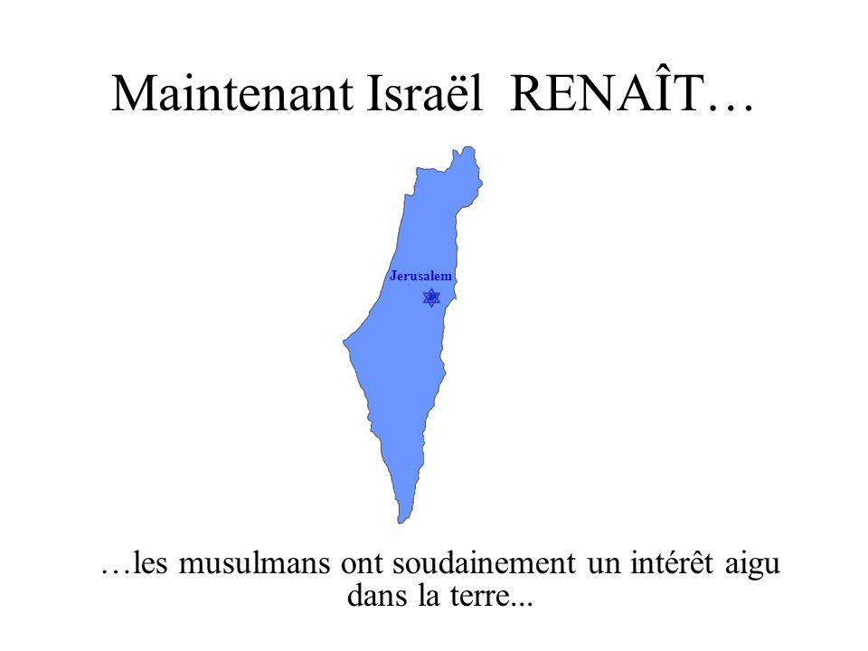 Maintenant Israël RENAÎT…