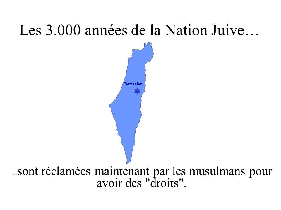 Les 3.000 années de la Nation Juive…