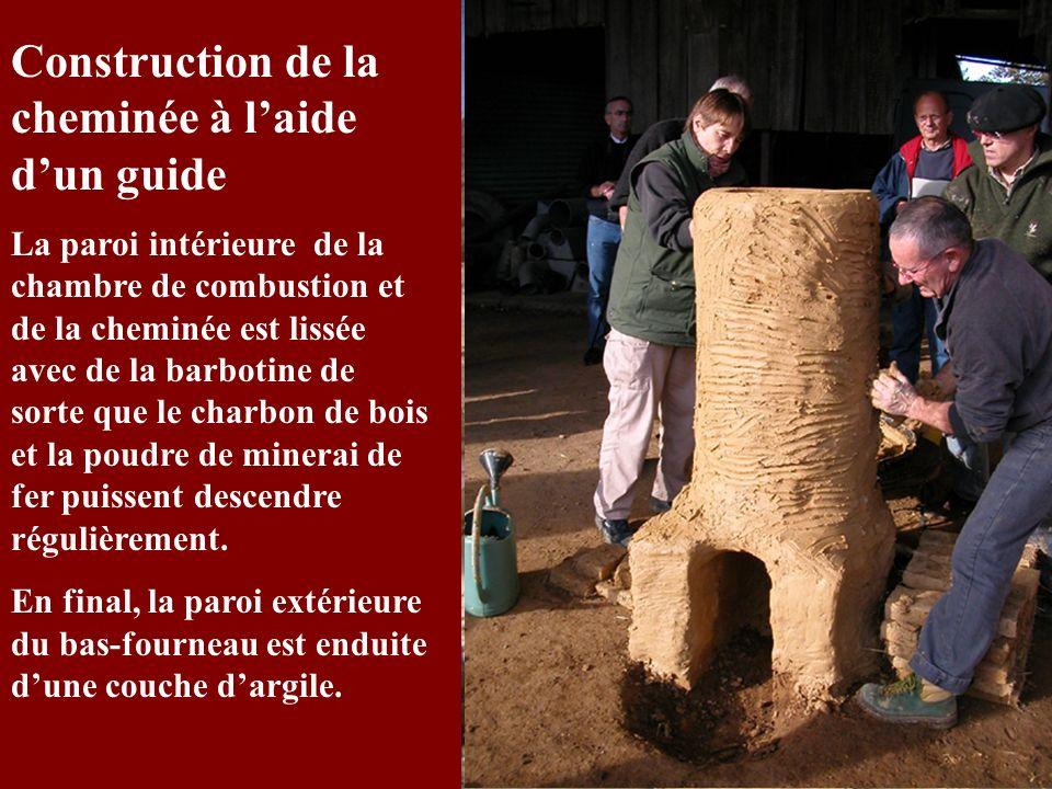 Construction de la cheminée à l'aide d'un guide