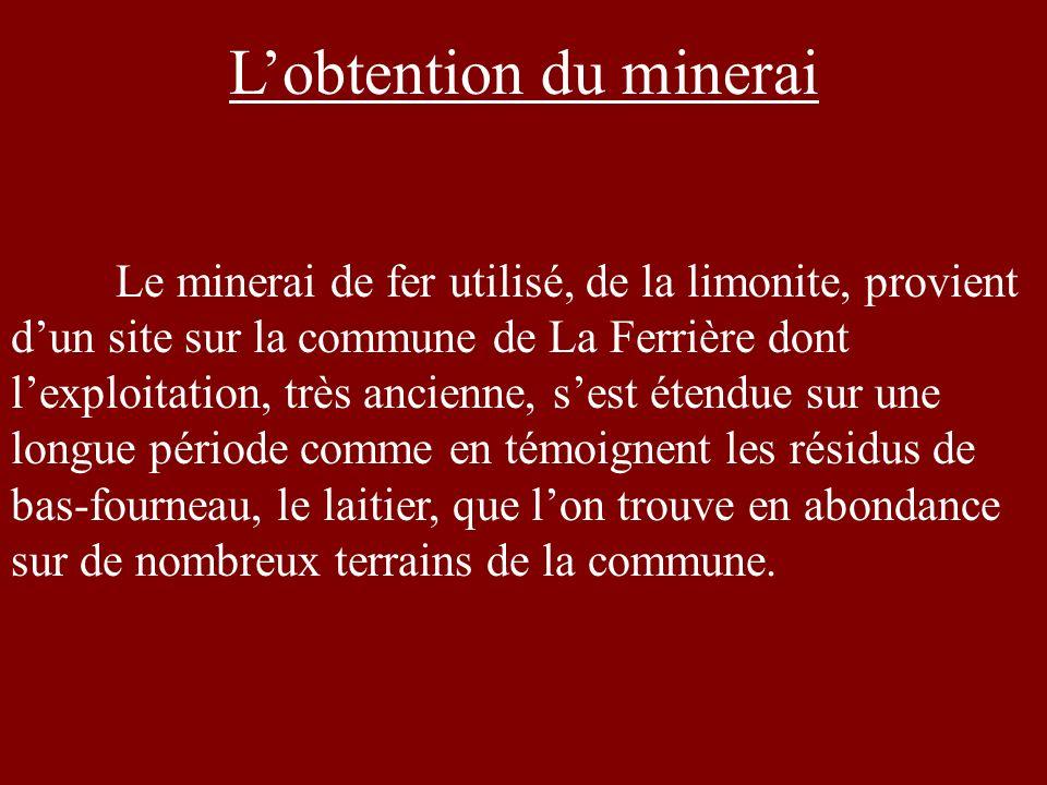L'obtention du minerai