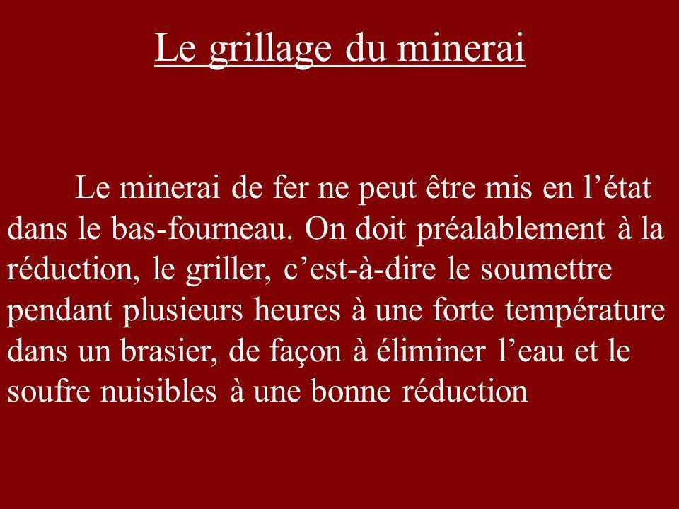 Le grillage du minerai