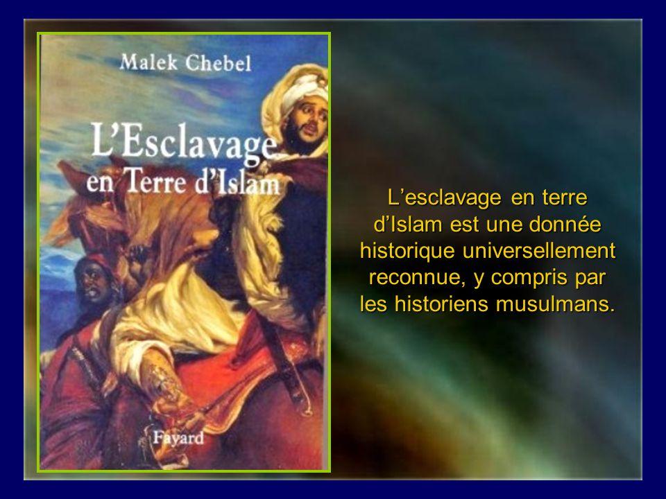 L'esclavage en terre d'Islam est une donnée historique universellement reconnue, y compris par les historiens musulmans.