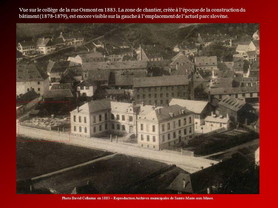 Vue sur le collège de la rue Osmont en 1883