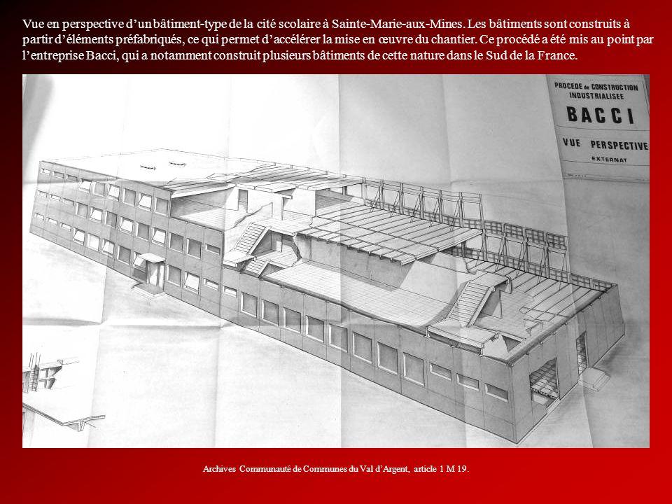 Archives Communauté de Communes du Val d'Argent, article 1 M 19.
