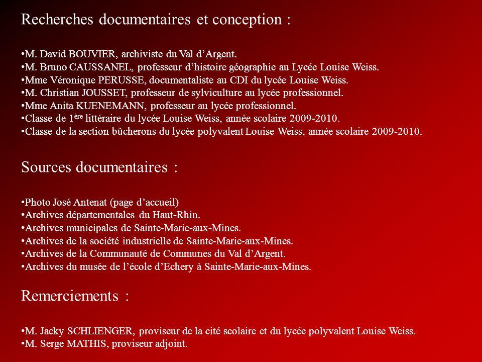 Recherches documentaires et conception :