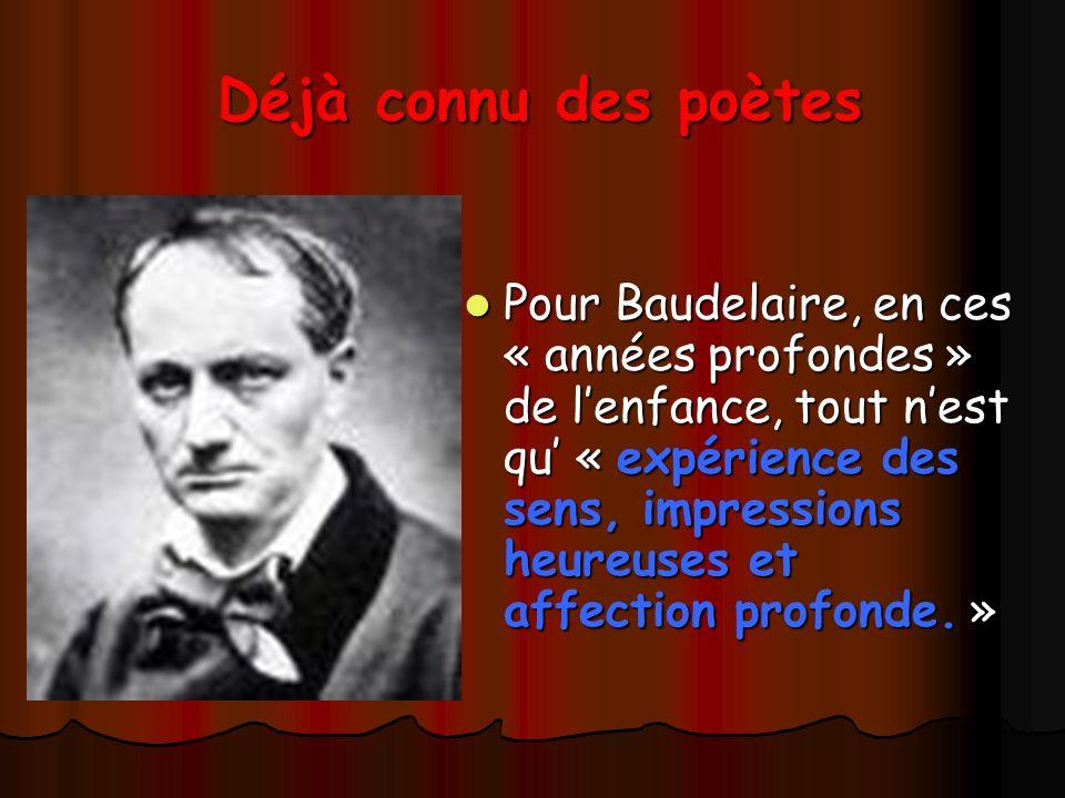 Déjà connu des poètes