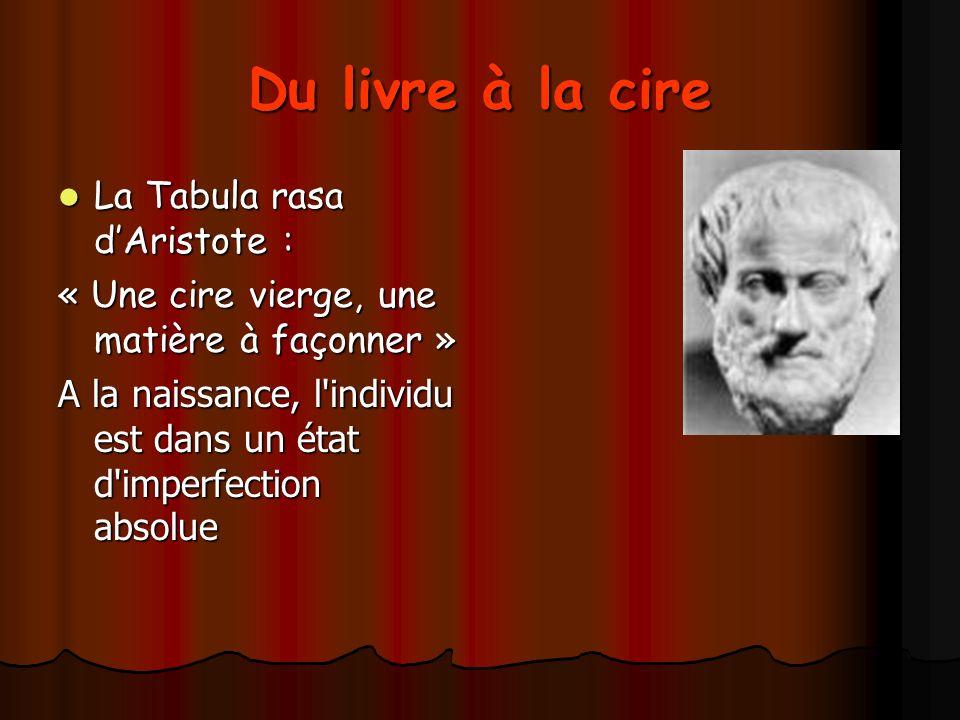 Du livre à la cire La Tabula rasa d'Aristote :