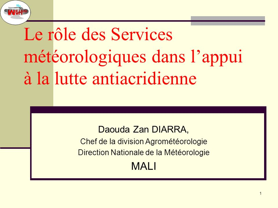Atelier OMM FAO CRA Niamey Avril 2005