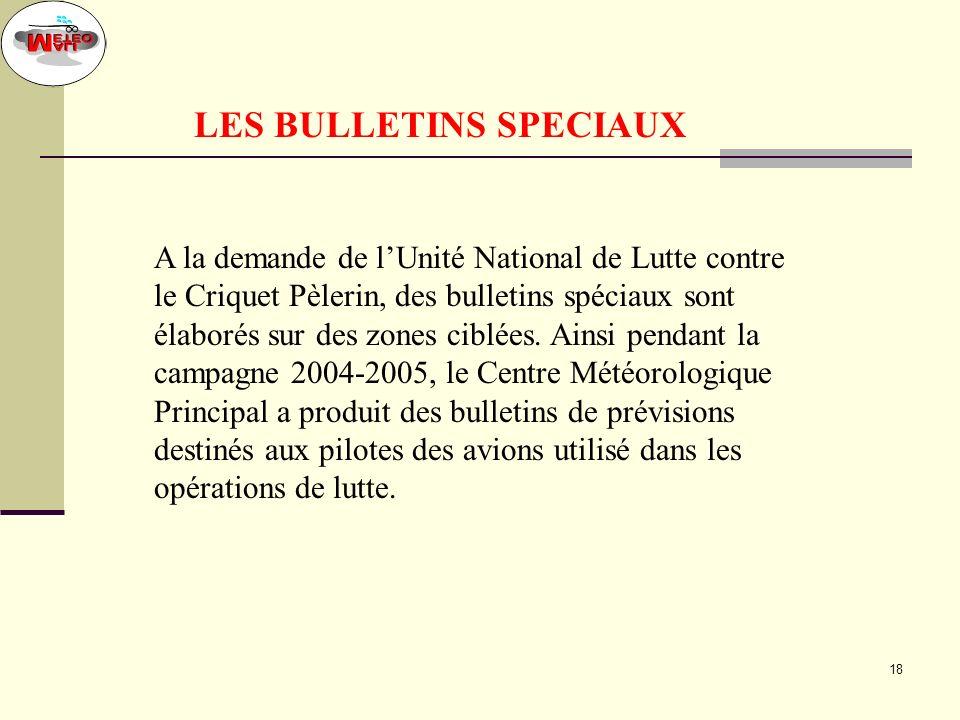 LES BULLETINS SPECIAUX