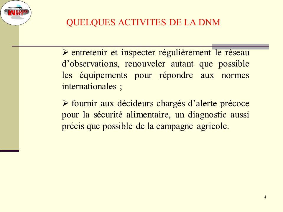 QUELQUES ACTIVITES DE LA DNM