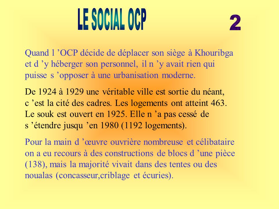 LE SOCIAL OCP 2.