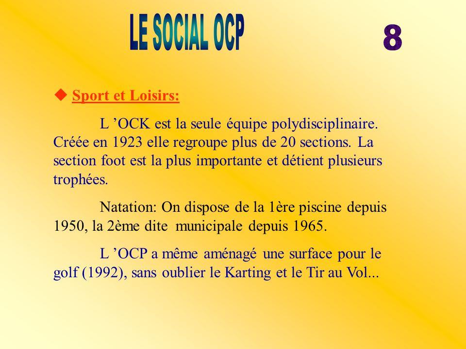LE SOCIAL OCP 8  Sport et Loisirs: