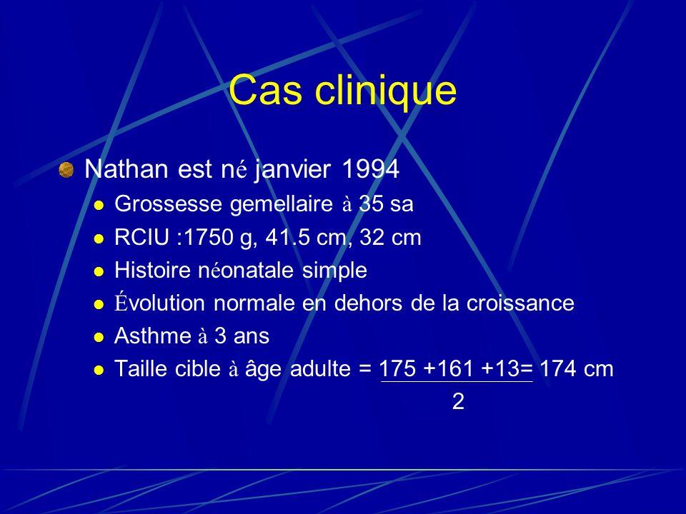 Cas clinique Nathan est né janvier 1994 Grossesse gemellaire à 35 sa