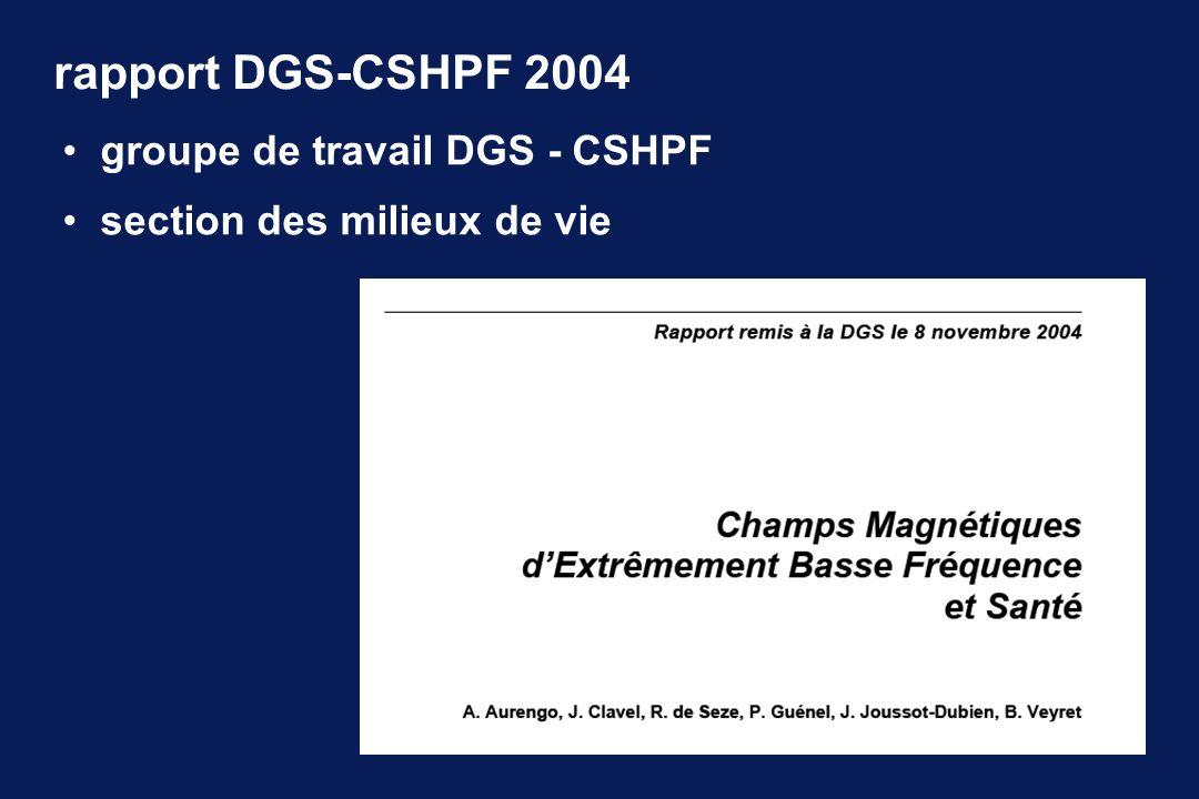 rapport DGS-CSHPF 2004 groupe de travail DGS - CSHPF