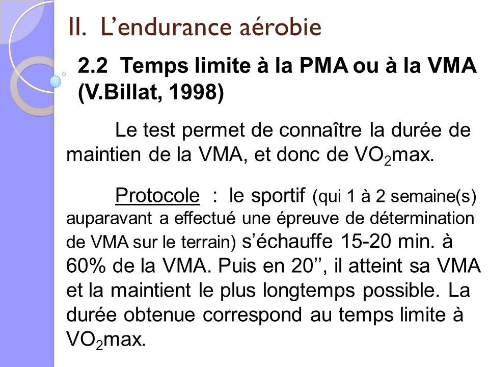 II. L'endurance aérobie