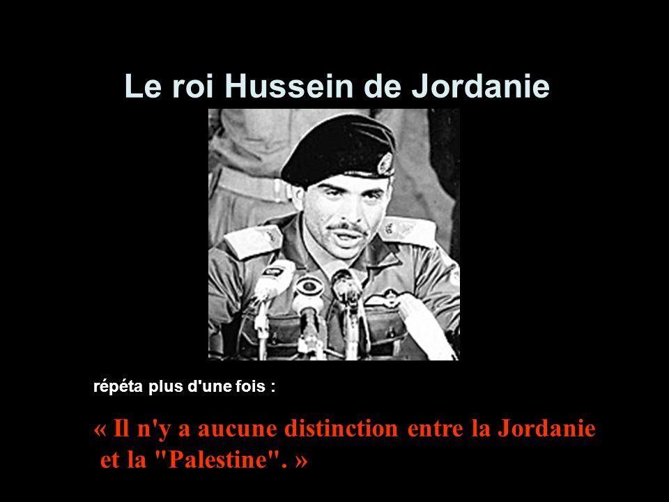 Le roi Hussein de Jordanie