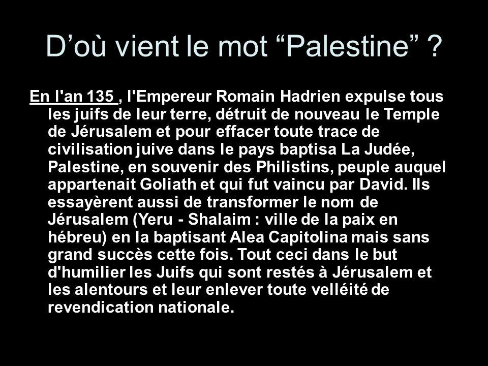 D'où vient le mot Palestine