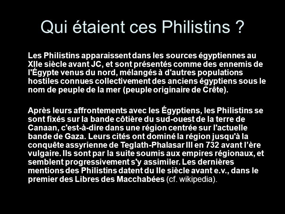Qui étaient ces Philistins