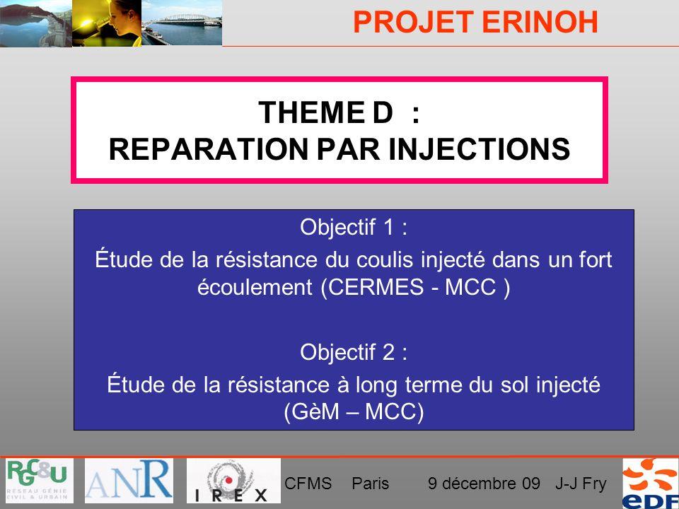 THEME D : REPARATION PAR INJECTIONS