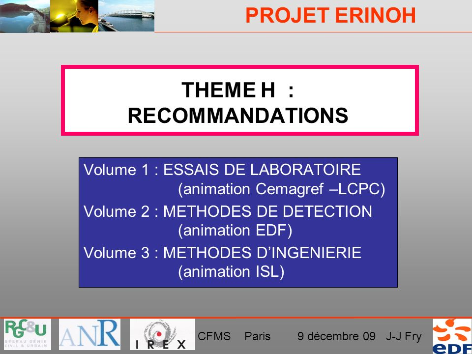 THEME H : RECOMMANDATIONS