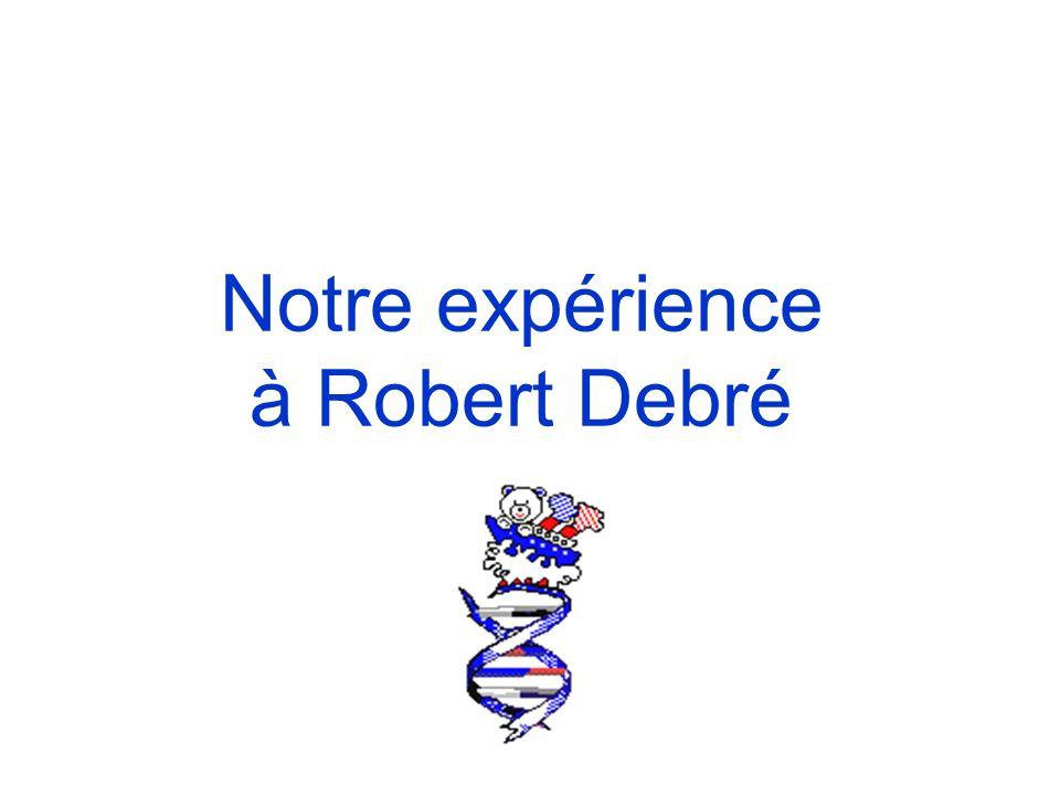Notre expérience à Robert Debré