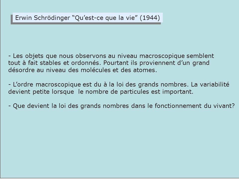 Erwin Schrödinger Qu'est-ce que la vie (1944)