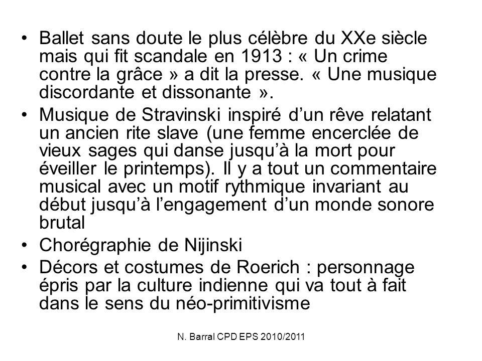 Chorégraphie de Nijinski