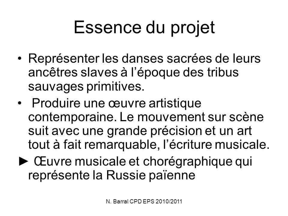 Essence du projet Représenter les danses sacrées de leurs ancêtres slaves à l'époque des tribus sauvages primitives.